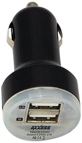 AXXESS MOBILITY AXM-2USB-CLA Dual-USB Compact Device Charger
