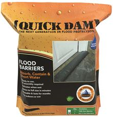 QUICK DAM� EXPANDING FLOOD BARRIER, 6 IN. X 5 FT., 2 PER BAG