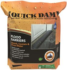 QUICK DAM� EXPANDING FLOOD BARRIER, 6 IN. X 10 FT., 1 PER BAG