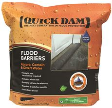 QUICK DAM� EXPANDING FLOOD BARRIER, 6 IN. X 17 FT., 1 PER BAG