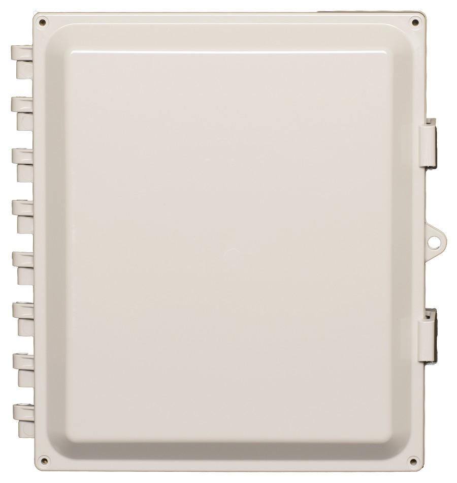 Acceltex 14x12x6 Polycarbonate Enclosure With Solid Door ATS-14126P-S-L-4T-CG-UBPTB