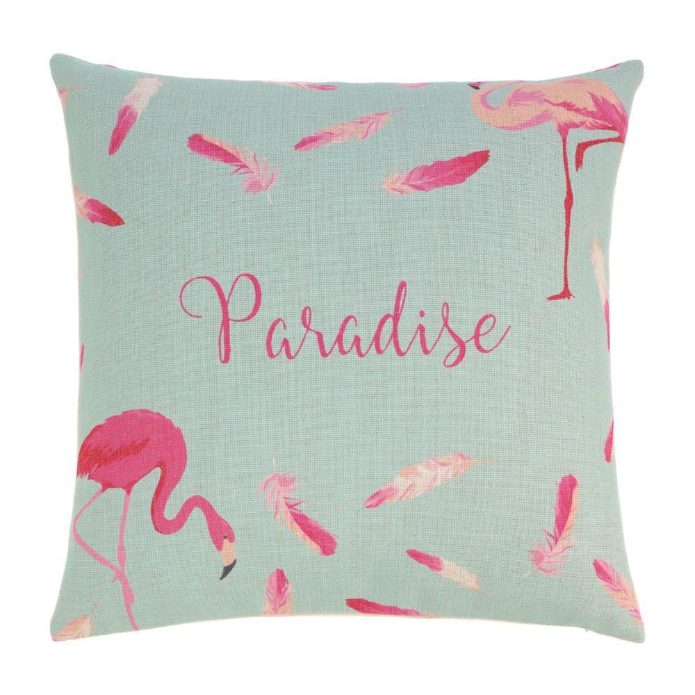 Flamingo Feathers Decorative Pillow