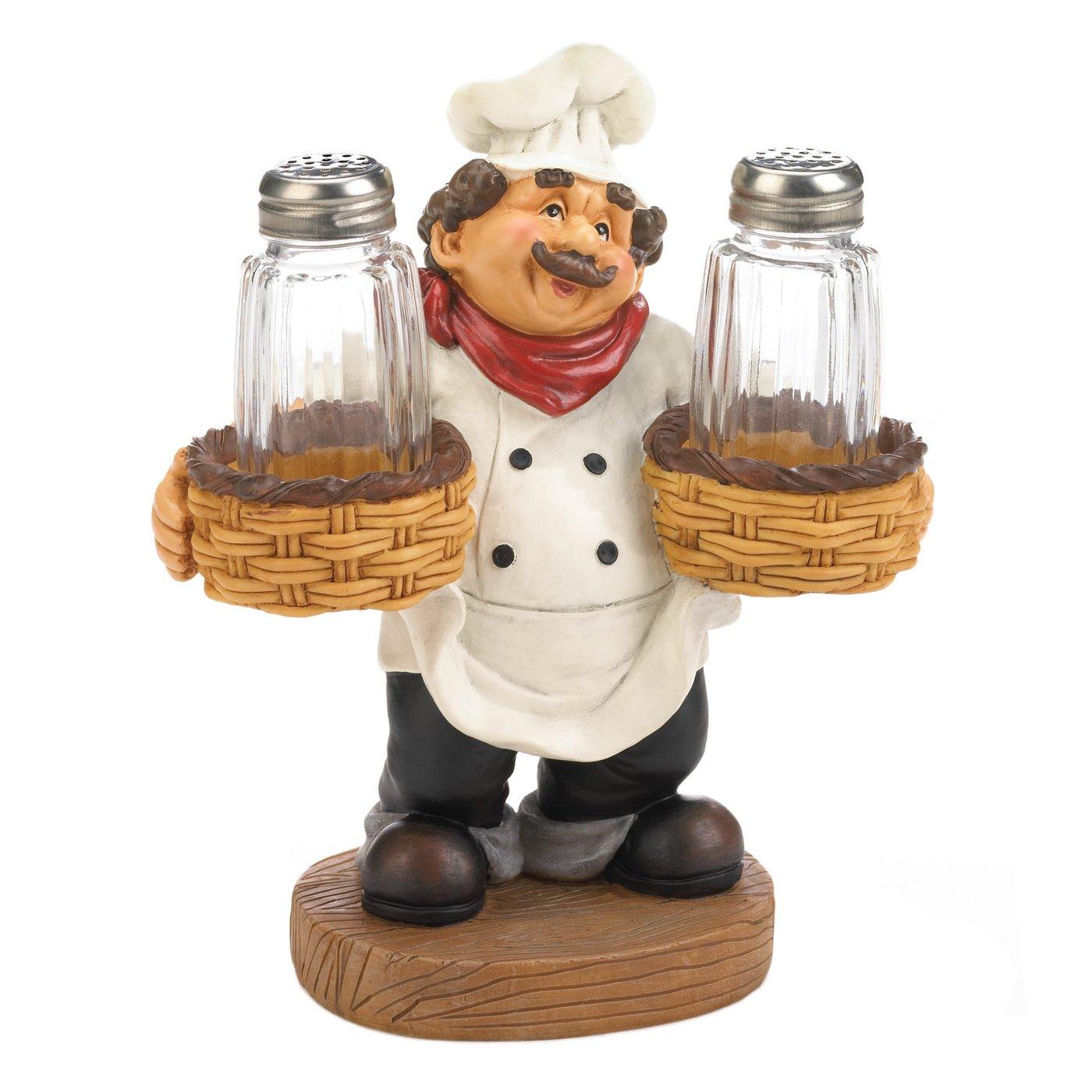 Chef Holder Salt &Pepper Shakers Set