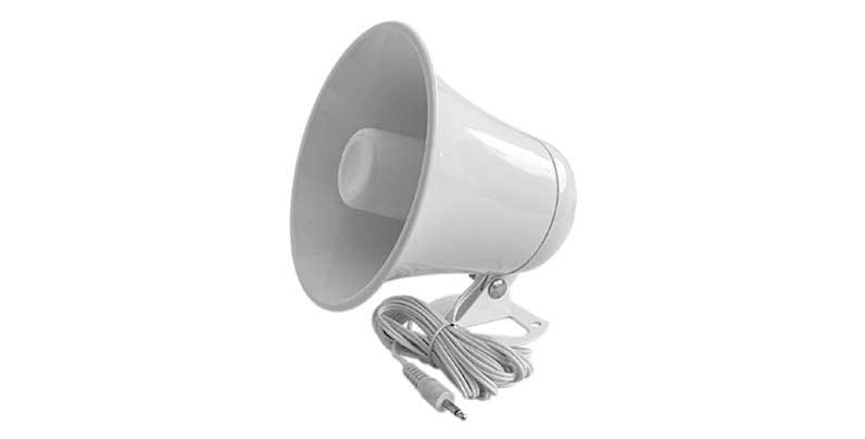 """5"""" PA HORN W/10'CORD,3.5MM PLG"""