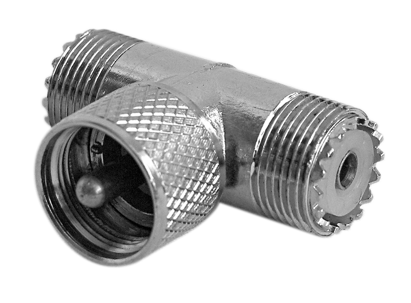 T CONNECTOR FOR DUAL ANTENNAS