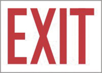 "Accuform Signs� 10"" X 14"" Red And White Plastic Admittance And Exit Sign ""Exit"""