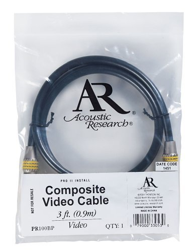 Acoustic Research 3-Foot Pro Series II Composite Video Cable (Polybag)