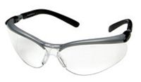 3M+ BX+ Safety Glasses With Black And Silver Frame And Clear Polycarbonate Anti-Fog Lens