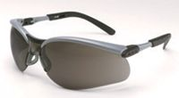 3M+ BX+ Dual Readers 2.5 Diopter Safety Glasses With Silver And Black Frame And Gray Polycarbonate Lens