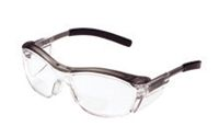 3M+ Nuvo+ Readers 1.5 Diopter Safety Glasses With Gray Frame, Clear Polycarbonate Anti-Fog Lens And Integral Sideshields