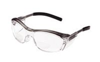 3M+ Nuvo+ Readers 2.0 Diopter Safety Glasses With Gray Frame, Clear Polycarbonate Anti-Fog Lens And Integral Sideshields
