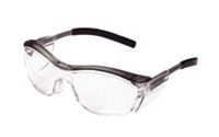 3M+ Nuvo+ Readers 2.5 Diopter Safety Glasses With Gray Frame, Clear Polycarbonate Anti-Fog Lens And Integral Sideshields
