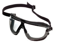 3M+ Large Lexa+ Splash GoggleGear+ Dust And Impact Goggles With Black Foam Lined Frame, Clear DX+ Anti-Fog, Anti-Scratch Lens, E