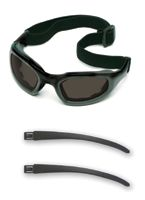 3M+ Maxim+ 2X2 Impact Goggles With Black Nylon Dual Lens Frame, Gray Anti-Fog Lens, Elastic Band And Air Bladder Cushion