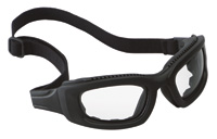 3M+ Maxim+ 2X2 Impact Goggles With Black Nylon Dual Lens Frame, Clear Anti-Fog Lens, Elastic Band And Air Bladder Cushion