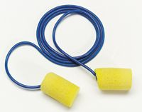 3M+ Single Use E-A-R+ Classic+ Cylinder Shaped PVC And Foam Corded Earplugs