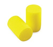 3M+ Single Use E-A-R+ Classic+ Soft Cylinder Shaped PVC And Foam Uncorded Earplugs