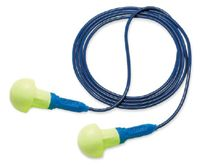 3M+ Multiple Use E-A-R+ Push-Ins+ Mushroom Shaped Foam Metal Detectable Corded Earplugs
