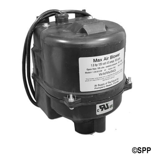 Blower, Air Supply Max Air, 1.0HP, 115V, 4.5A, Amp Cord