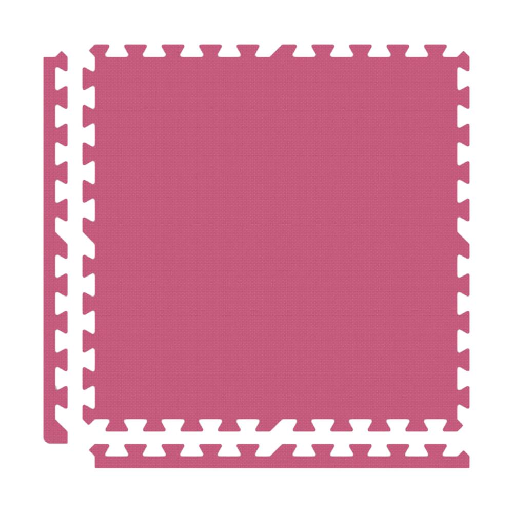 Alessco Interlocking Foam Premium Soft Floors Mat - 10' x 10' Set - Pink
