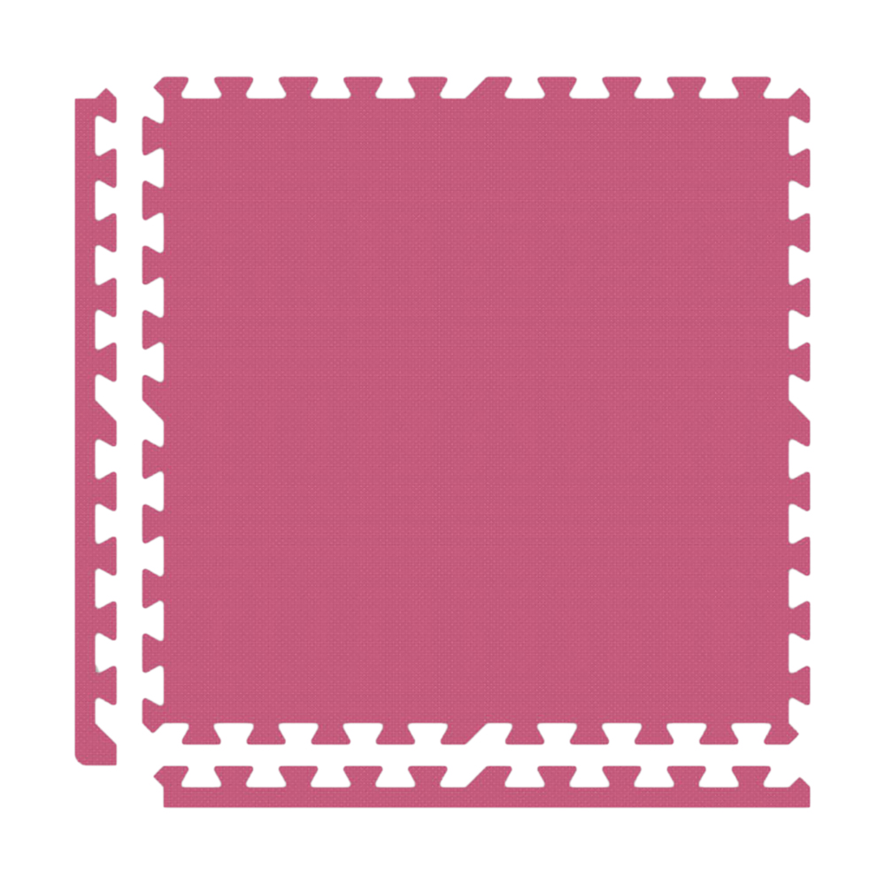 Alessco Interlocking Foam Premium Soft Floors Mat - 12' x 12' Set - Pink