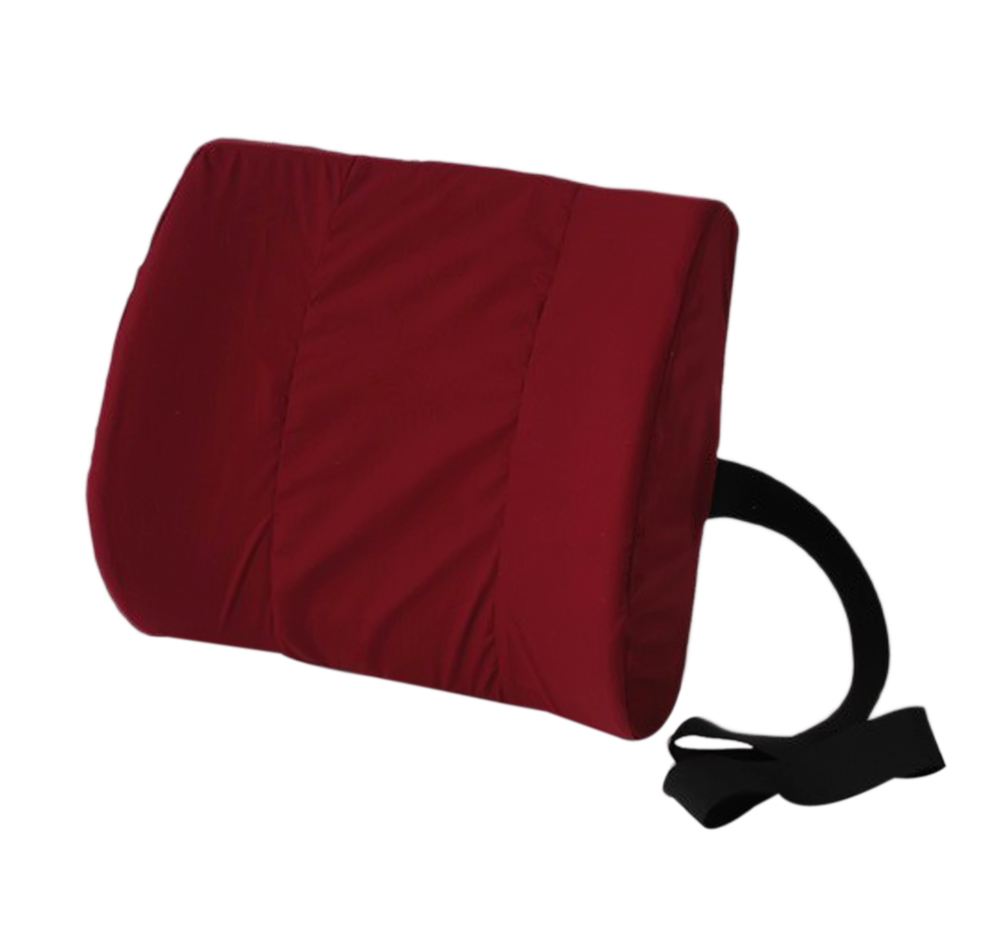 Alex Orthopedic Bucket Seat Molded Lumbar Cushion Burgundy