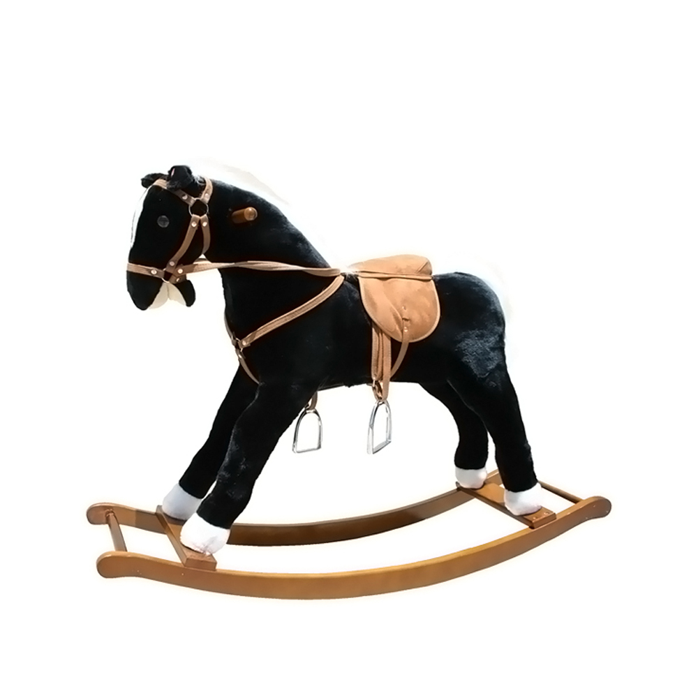 Alexander Taron Large Black and White Rocking horse with sound effects