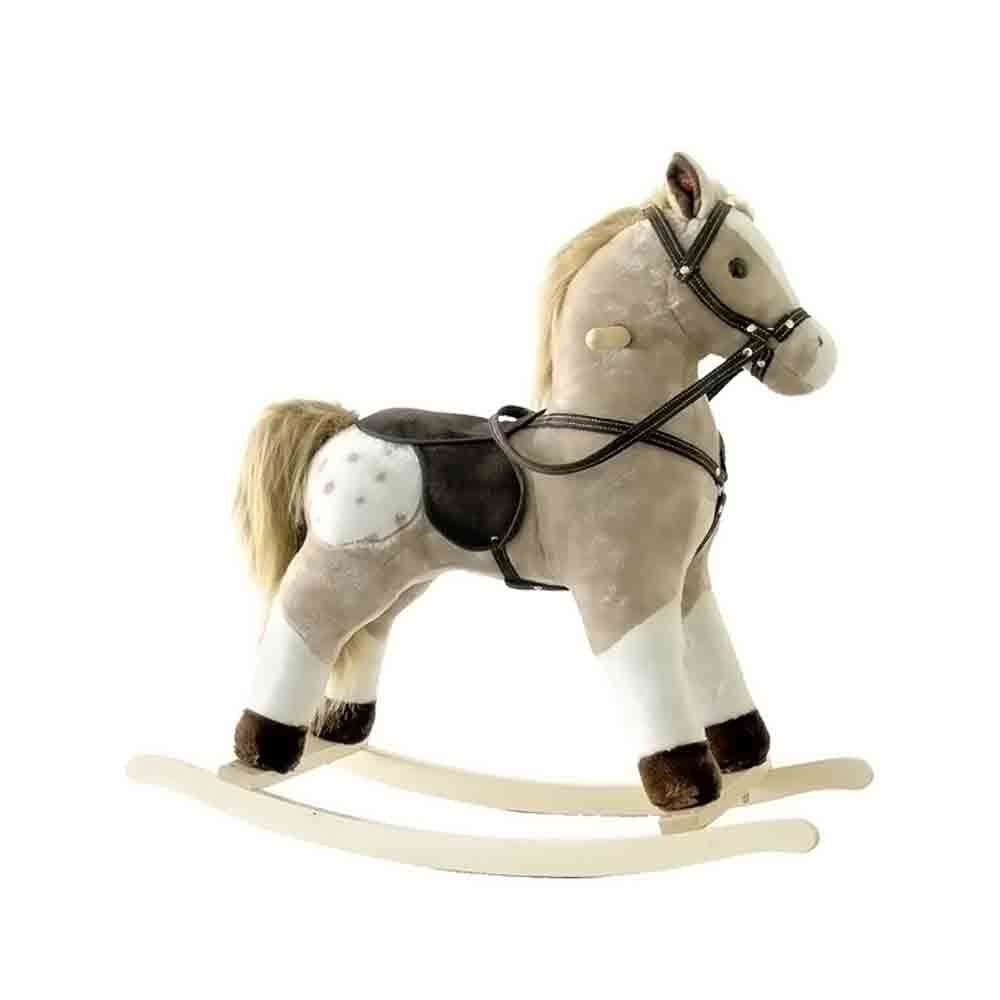 Alexander Taron Rocking Horse Brown and White Pinto with Sounds