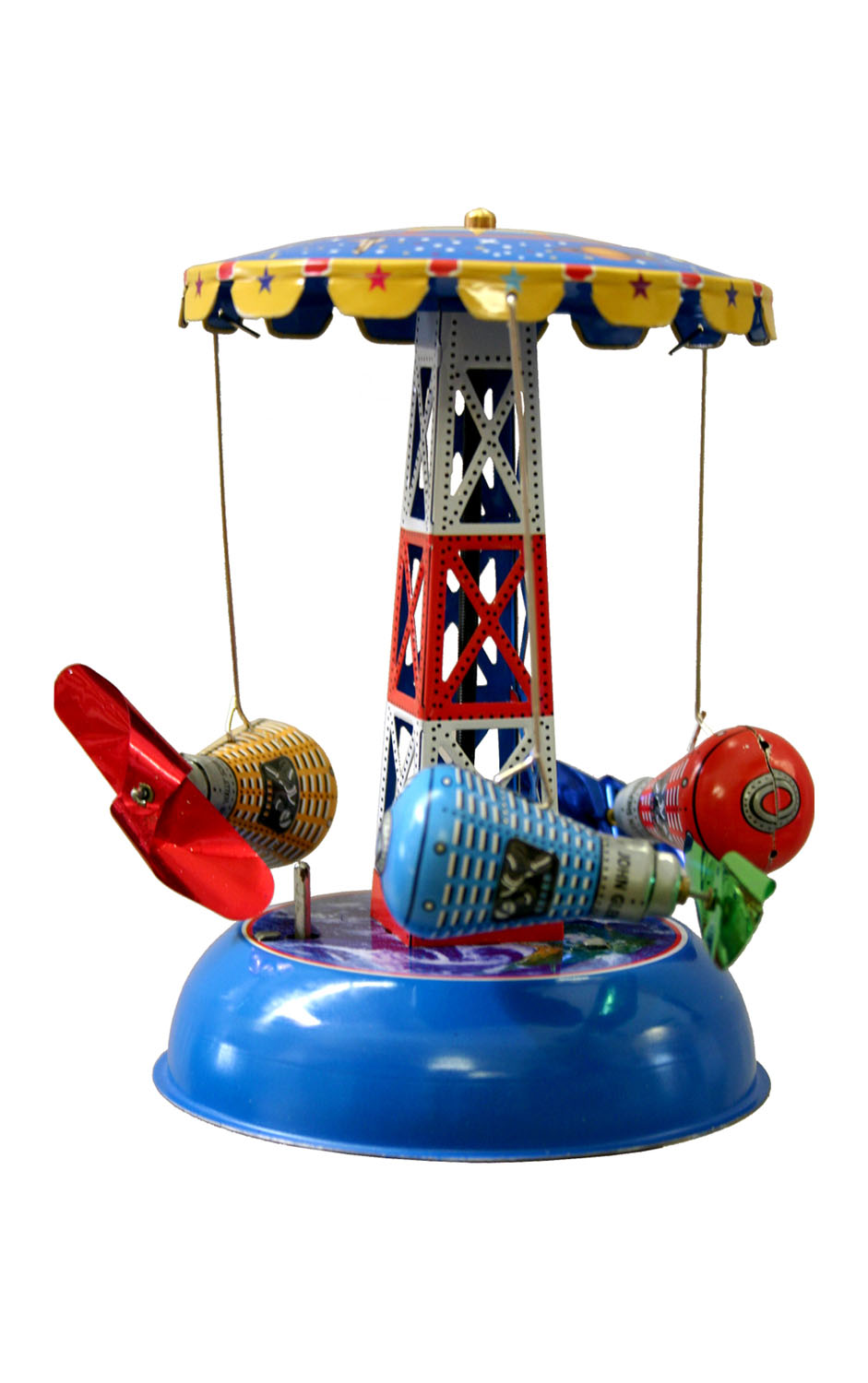 Alexandor Taron Home Decor Collectible Carousel with Space Capsules Tin Toy