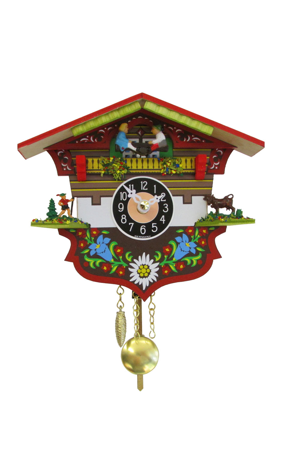 Alexander Taron Decorative Collectibles 0143KQP - Engstler Battery-operated Clock - Mini Size with Music/Chimes