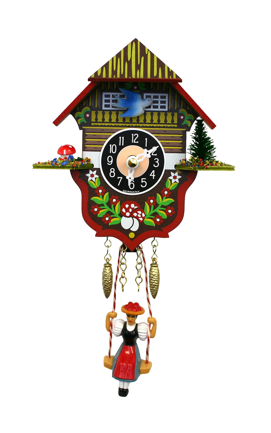 """166SQ-Engstler Battery-operated Clock - Mini Size - 5""""H x 4.25""""W x 2.75""""D"""
