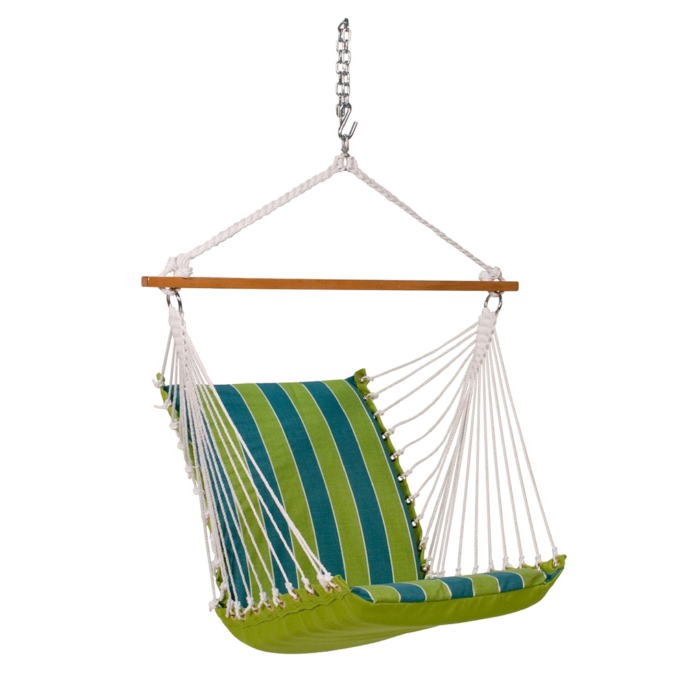 Deluxe Soft Comfort Hanging Chair - Wickenburg Teal/Cobble Willow