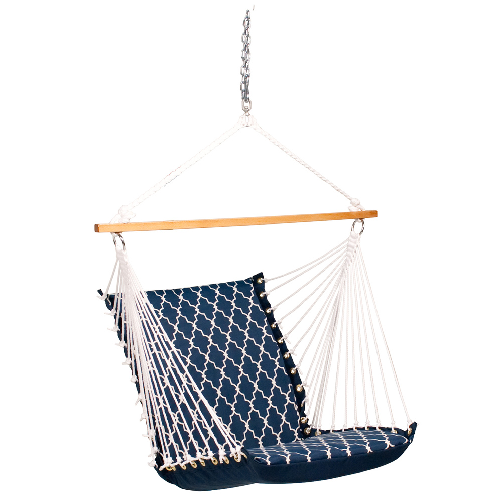 Deluxe Soft Comfort Hanging Chair - Garden Gate/Arbor Blue