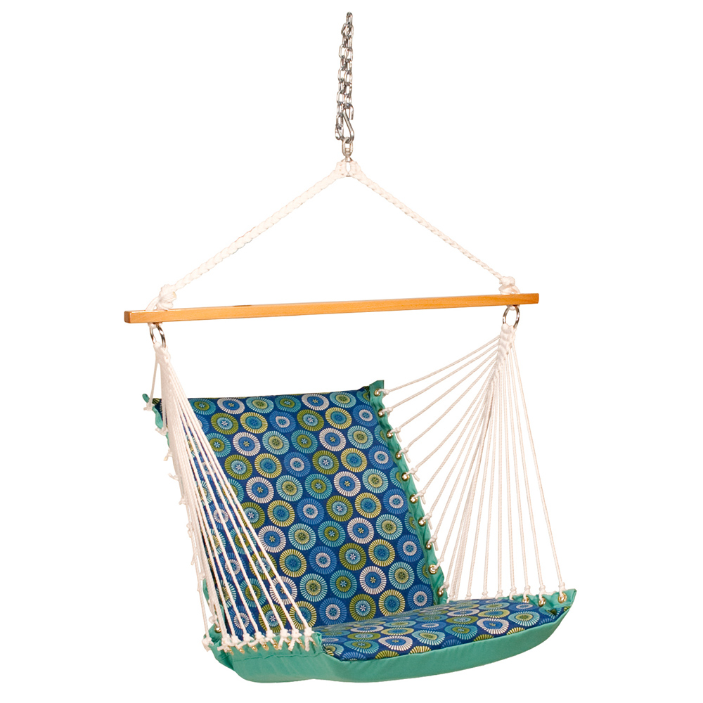 Deluxe Soft Comfort Hanging Chair - Jax Lagoon/Lagoon Solid