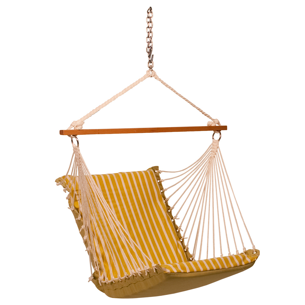 Sunbrella Soft Comfort Hanging Chair - Citron
