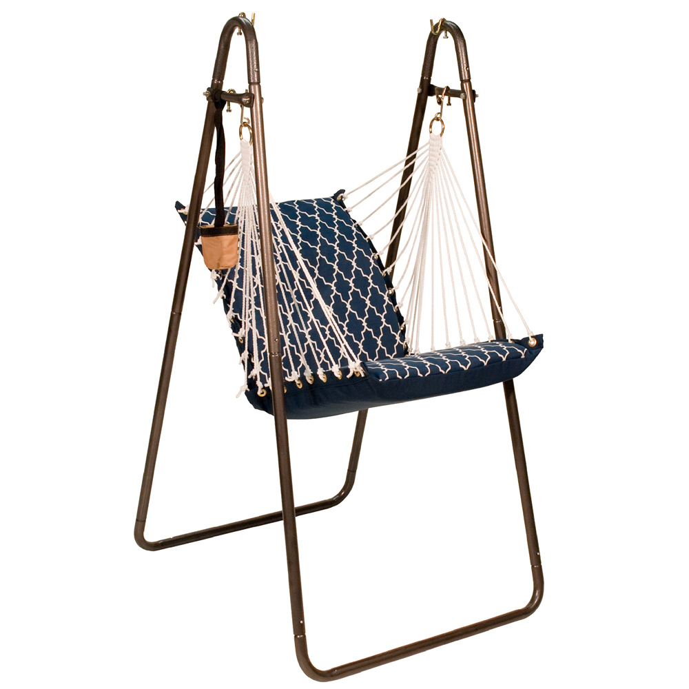 Hanging Chair with Stand Set - Garden Gate/Arbor Blue