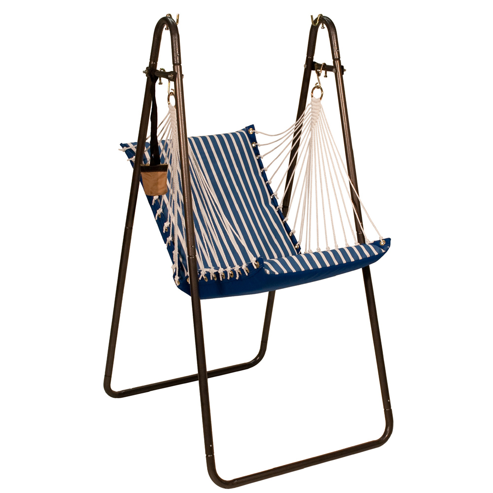 Sunbrella Hanging Chair with Stand Set - Regatta