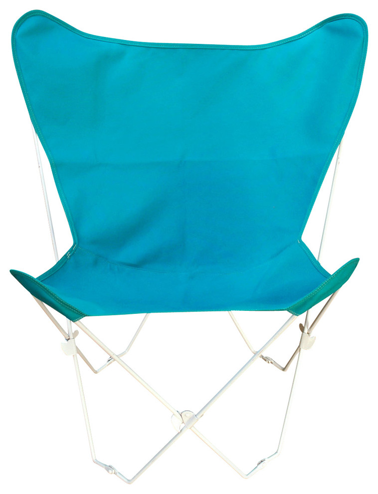 Butterfly Chair and Cover Combination w/White Frame - Teal