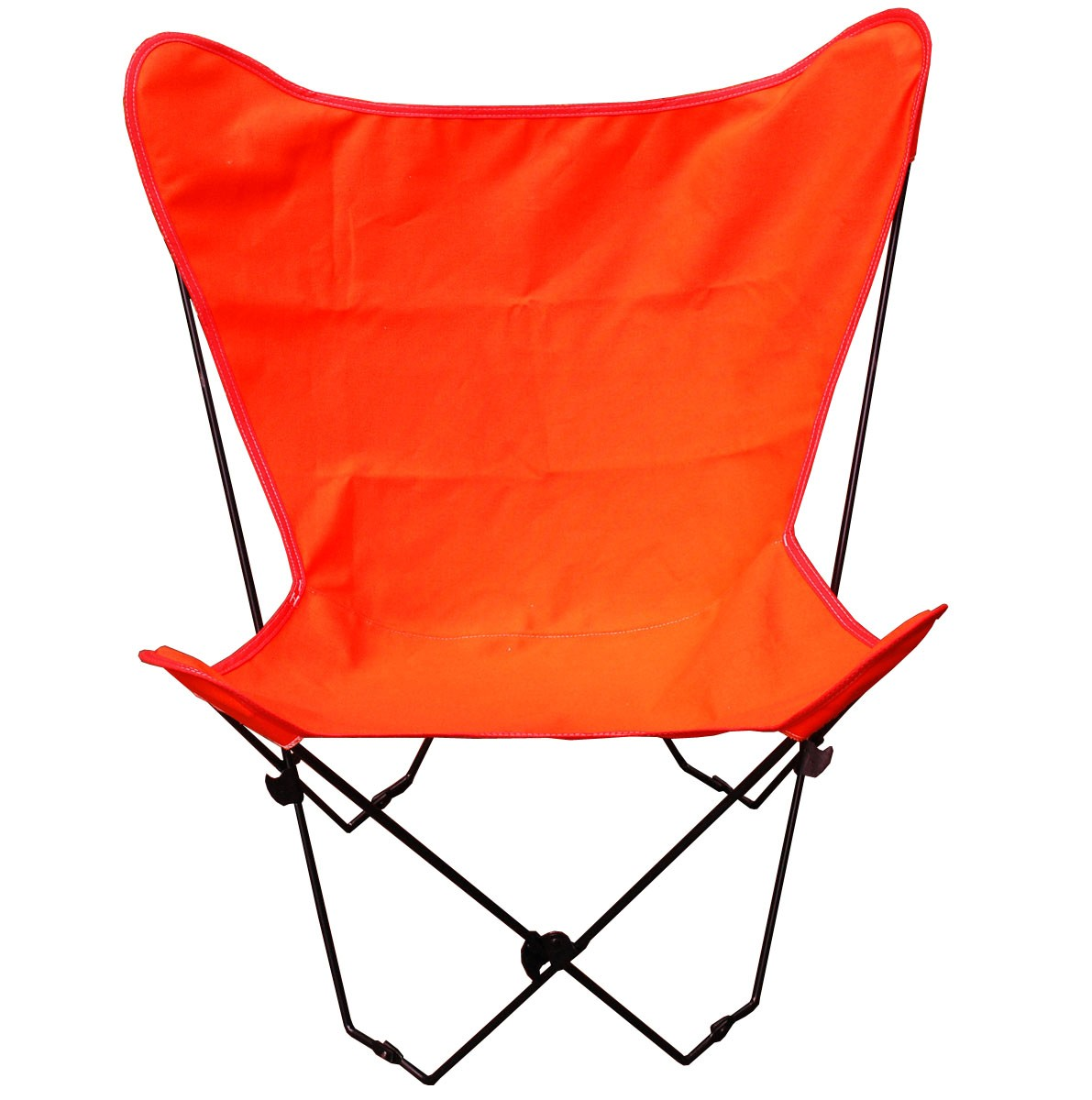 Butterfly Chair and Cover Combination w/Black Frame - Orange