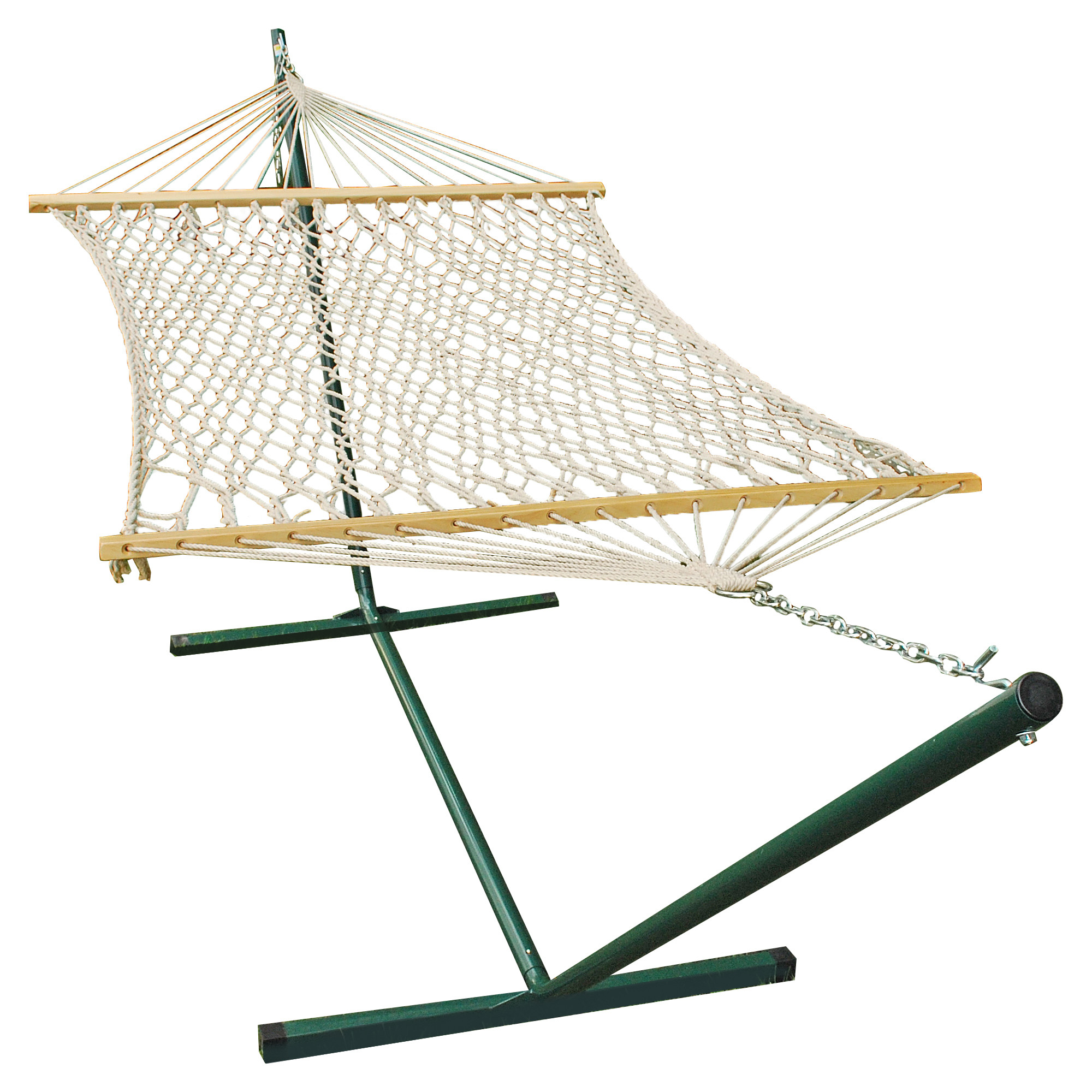 12' Cotton Rope Hammock and Stand Combination