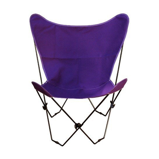 Butterfly Chair and Cover Combination w/Black Frame - Burgundy