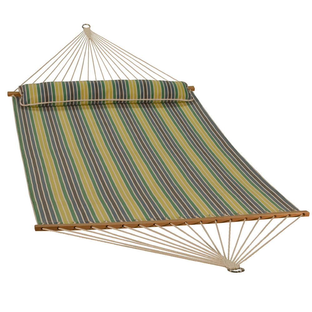 13 Foot Quick Dry Hammock with Matching Pillow - Spring Stripe
