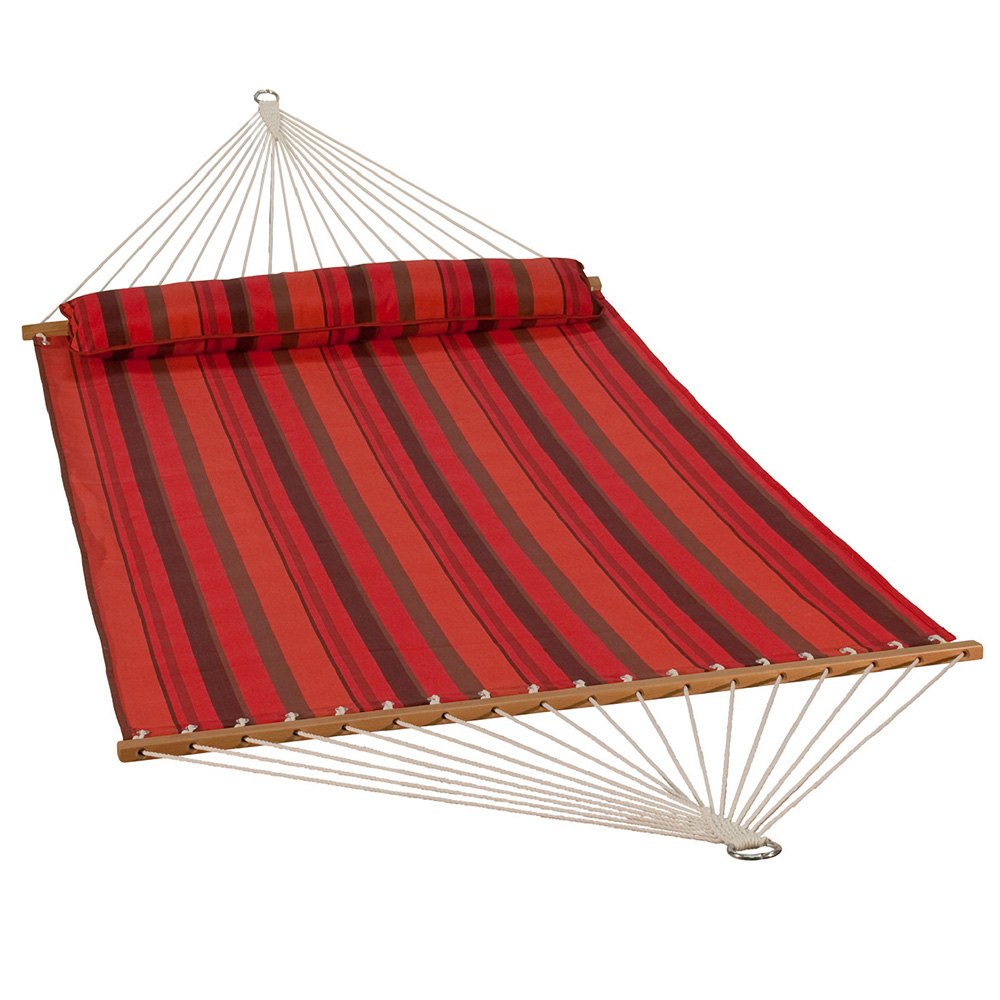 13 Foot Quick Dry Hammock with Matching Pillow - Sunset Stripe