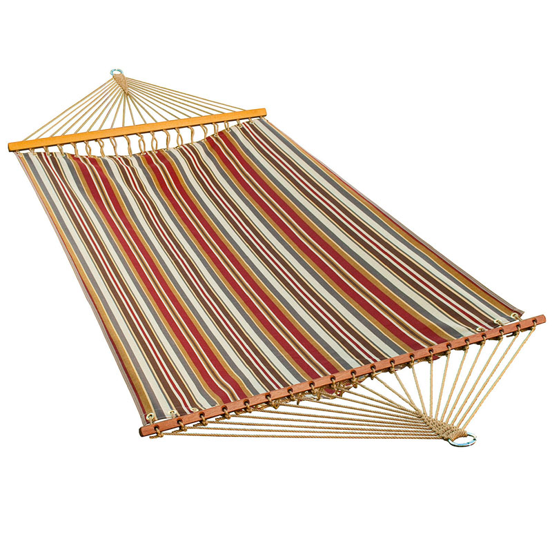 13 ft. Fabric Hammock - Roxen Stripe Nutmeg