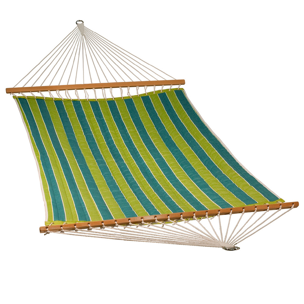 13 Foot Quilted Fabric Hammock - Wickenburg Teal/Cobble Willow