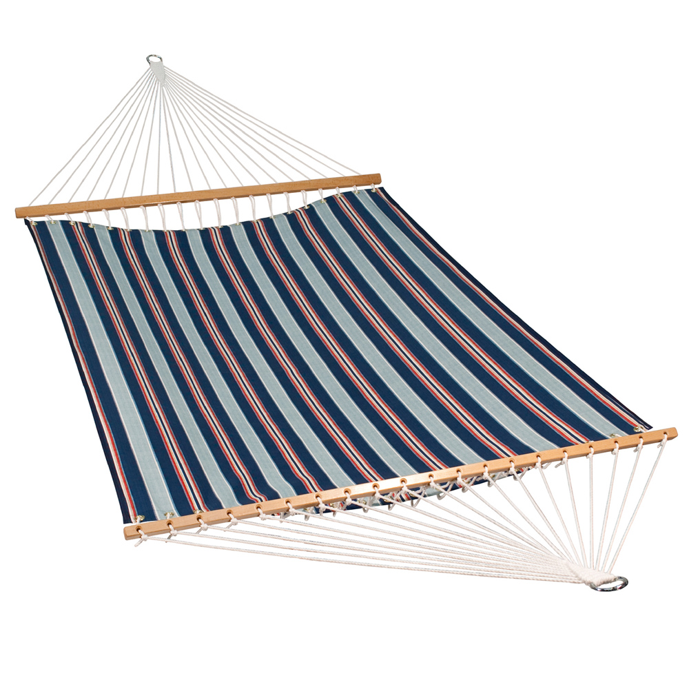 13 Foot Polyester Fabric Hammock - Kingston Stripe