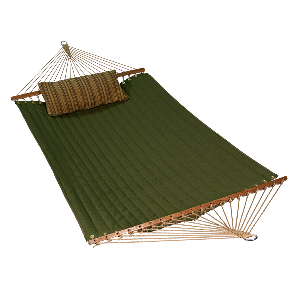 11' Reversible Sunbrella Quilted Hammock - Meadow Green