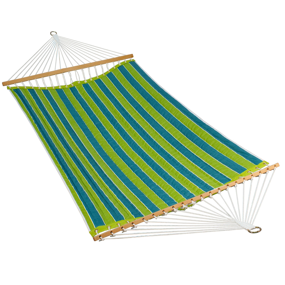 11 Foot Polyester Fabric Hammock - Wickenburg Teal/Cobble Willow