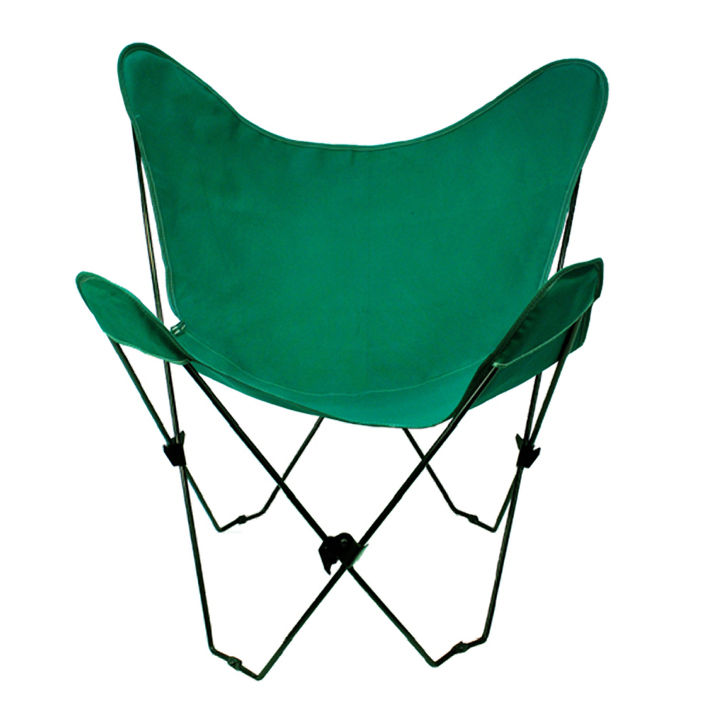 Butterfly Chair and Cover Combination With Black Frame, Hunter Green