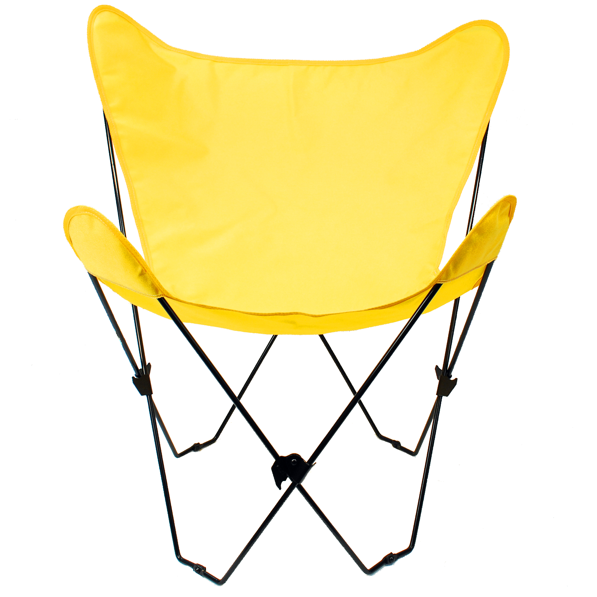 Butterfly Chair and Cover Combination With Black Frame, Sunny Gold